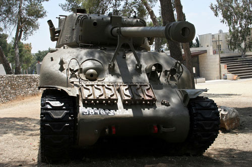Israeli Tank on Ammunition Hill in Jerusalem.