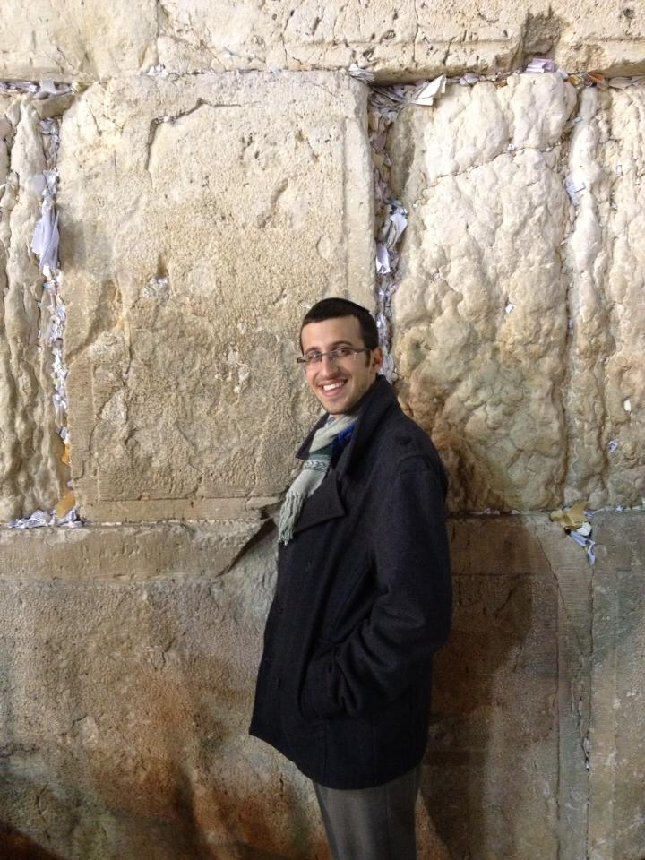 Josh at the Western Wall.