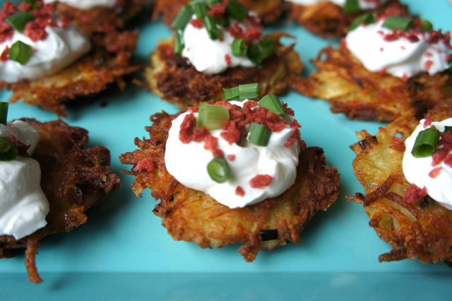 Loaded Baked Potato Latkes1