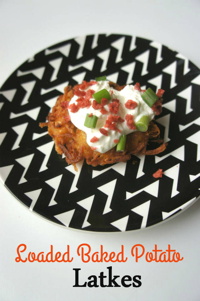 Loaded Baked Potato Latkes