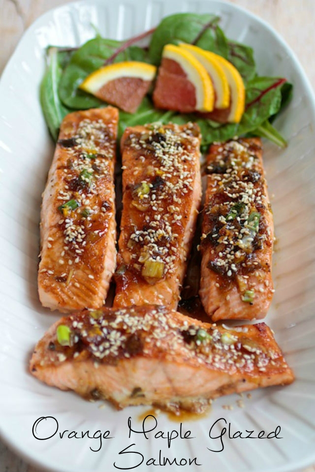 Maple Orange Glazed Salmon Vert1