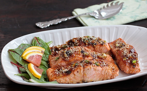 Maple Orange Glazed Salmon1