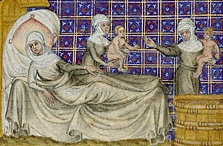 """The Birth of Esau and Jacob,"" Master of Jean de Mandeville."