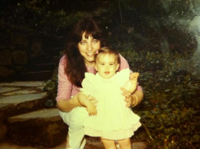 Mom and shan on 1st bday