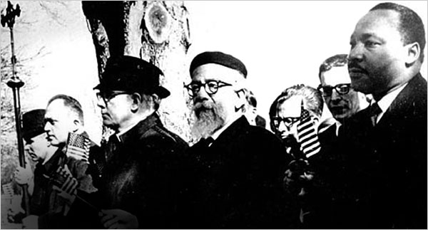 Rabbi Heschel with MLK
