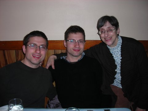 Ruth, on right, with sons Aaron and Nathan Tabak