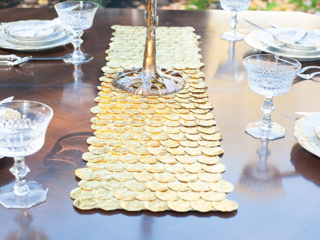 Thanksgivukkah Gelt Table Runner
