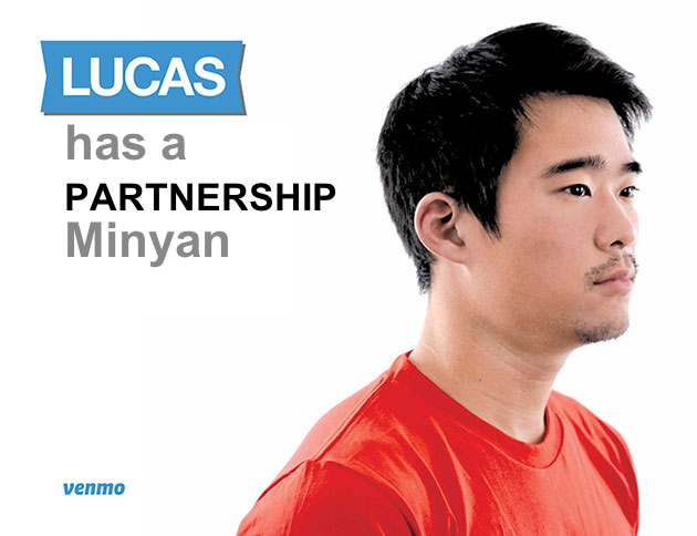 Lucas has a partnership minyan