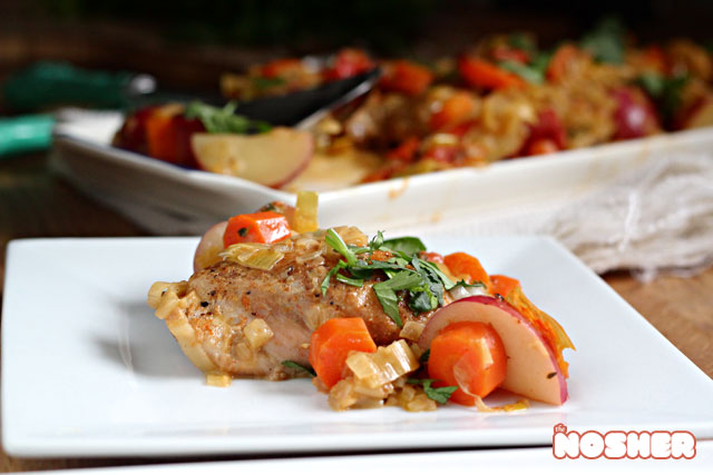 White Wine Braised Chicken Thighs With Tomatoes And Potatoes The