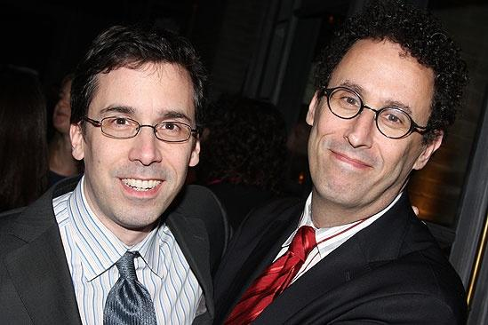 Tony Kushner and Mark Harris. Photo by broadway.com