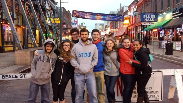 Students from American University visiting one on my favorite Memphis spots for Southern Jewish history...Beale Street!