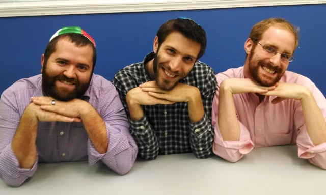 Rabbi Matt Dreffin, Lex Rofes, Dan Ring... and beards!