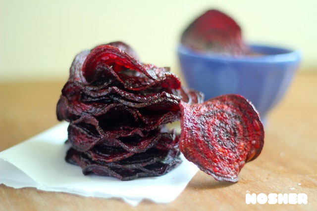 Beet Chips with Spicy Honey Mayo | The Nosher - My Jewish Learning