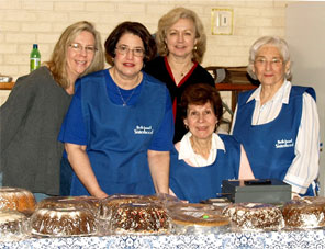 Volunteers at the author's congregation, during the annual Bazaar