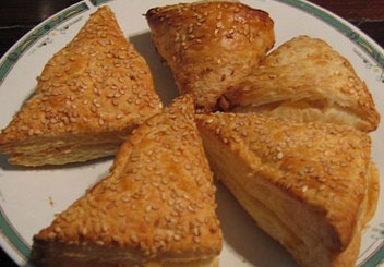 Borekas, or burek, are a traditional (and yummy!) Turkish Jewish dish.