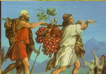 caleb and joshua and the grapes