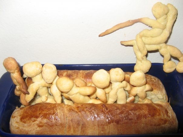 splitting the sea challah for b'shalah