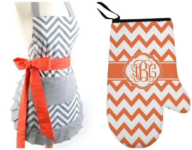 chevron apron and oven mitt1