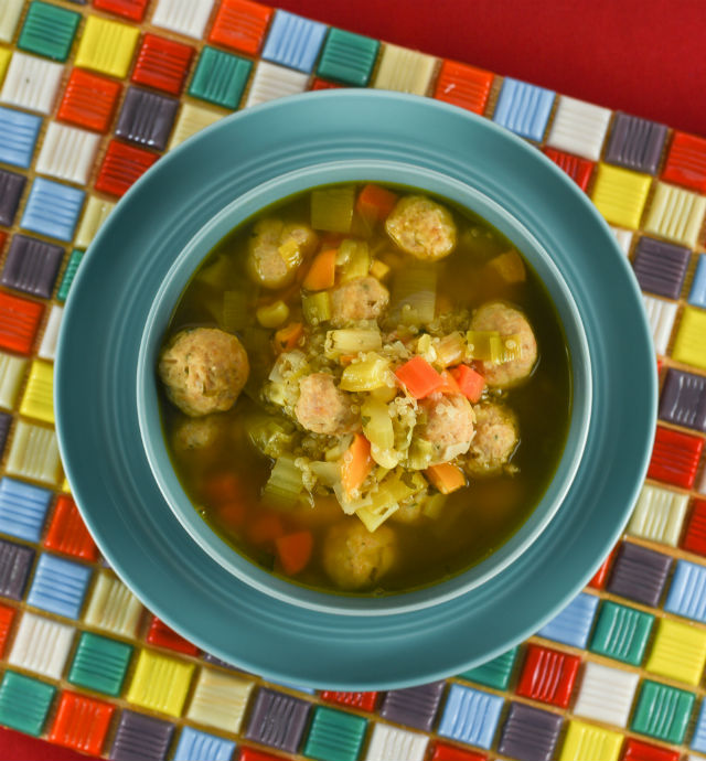 chicken soup with albondigas and leek and quinoa4