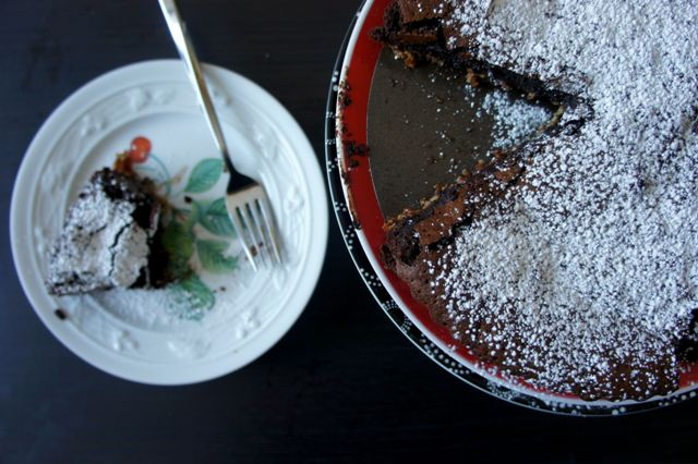chocolate raspberry torte for Passover