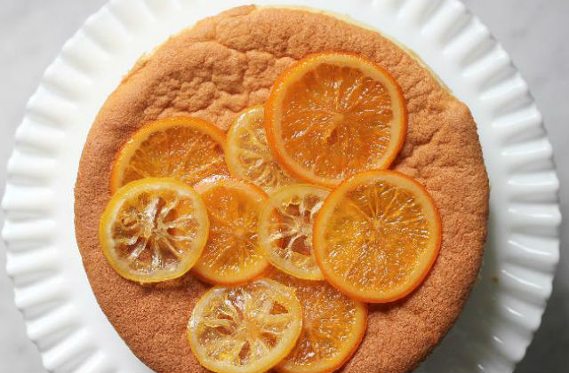 Lemon Sponge Cake With Candied Citrus The Nosher My
