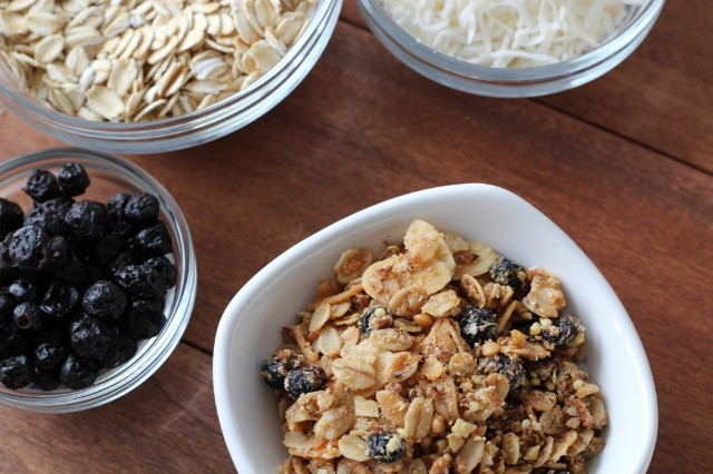 coconut blueberry granola