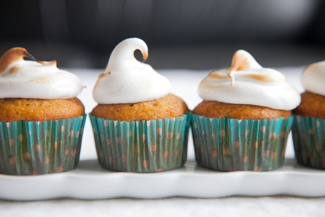 Sweet Potato Cupcakes with Toasted Marshmallow Frosting | The Nosher ...