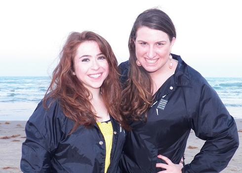 Me and Erin at the beach.