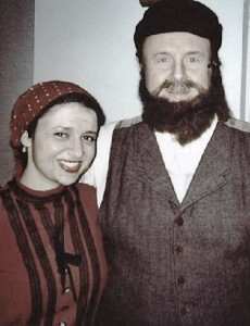 Yep, this is me. With my Tevye, and a lot of age makeup.