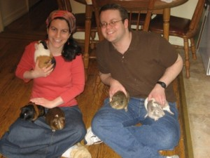 guinea pig and Will and Rachel