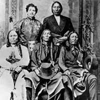 Julius Meyer, with Native Americans in Nebraska