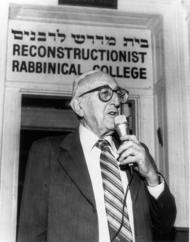 Ira Eisenstein, who helped found Reconstructionist Judaism.