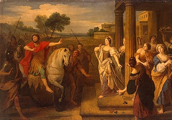 Boullogne's painting of the daughters of Jephthah
