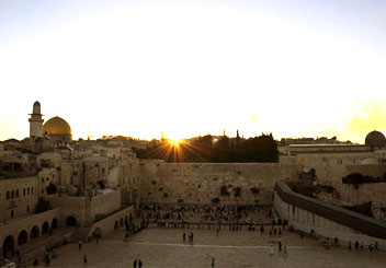 the western, or wailing, wall in jerusalem -- next year in jerusalem!
