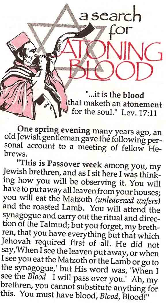 christian passover pamphlet