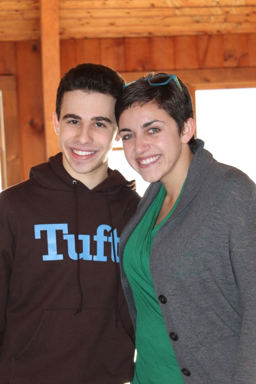 Jordan Daschow and Joanna Ware at Teen Shabbaton