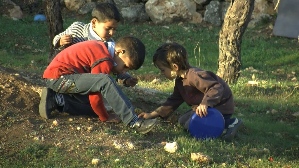 Israeli and Palestinian Kids Playing Together