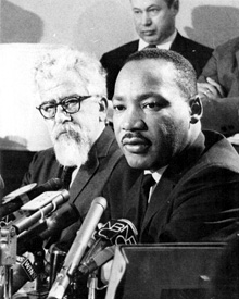 Rev. Dr. Martin Luther King, Jr. with Rabbi Abraham Joshua Heschel