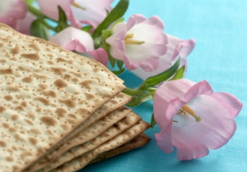 matzah with flowers