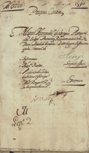 Mexican Inquisition Proceso, 1590