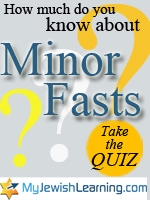 minor fasts quiz