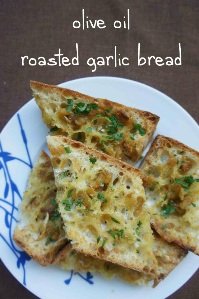 olive oil garlic bread text