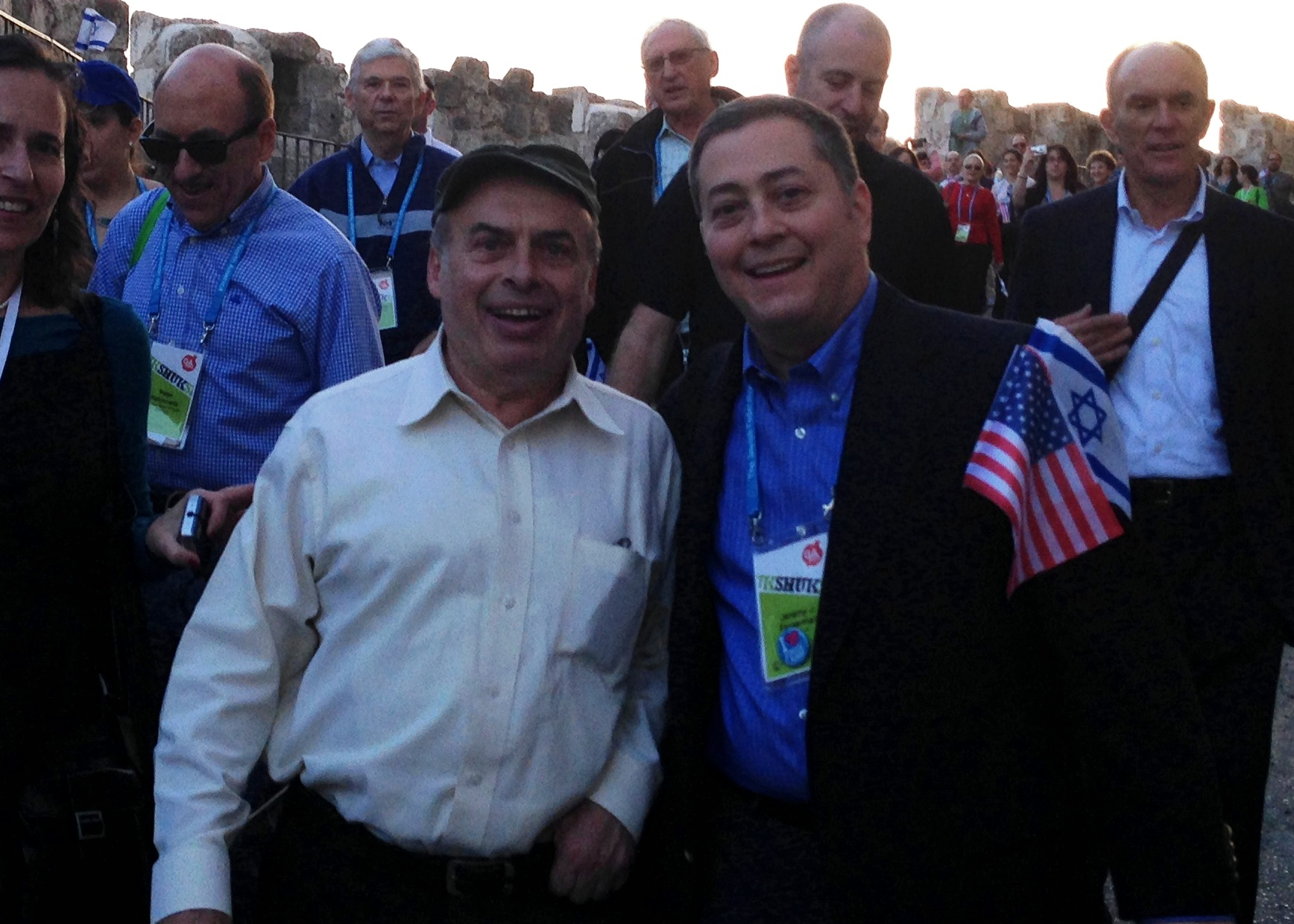 Jeremy with Natan Sharansky, chairman of the Jewish Agency, at the unity march to the Kotel