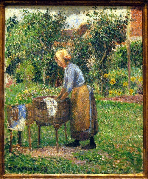 pissarro's washerwoman at eragny
