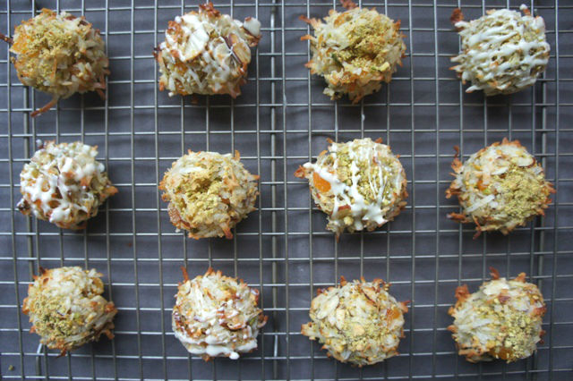Pistachio and Apricot Macaroons
