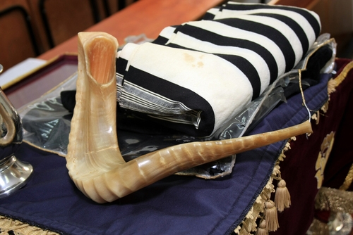 shofar and tallit