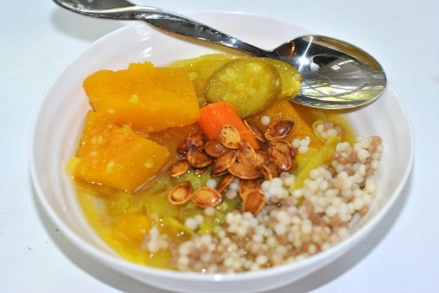 pumpkin israeli couscous soup1
