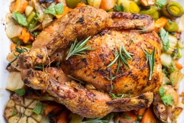 roast chicken w herbs