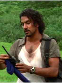 sayid tries to find some talk radio