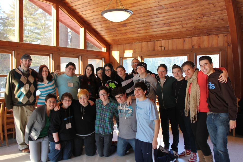 Teens and staff at the 2nd LGBTQ Teen and Ally Shabbaton